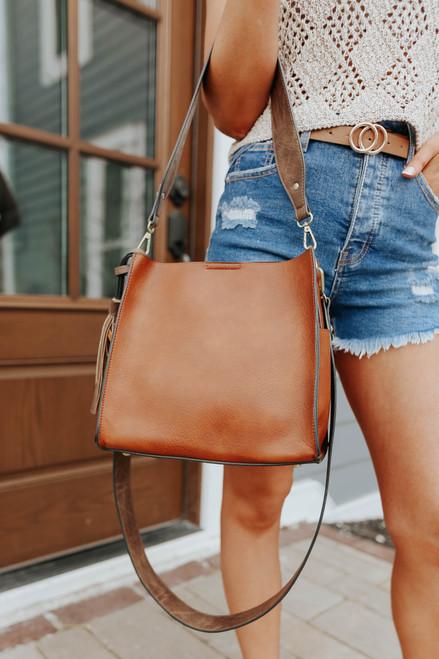 Nashville Faux Leather Coffee Bucket Bag