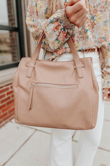 Kayden Vegan Leather Natural Handbag