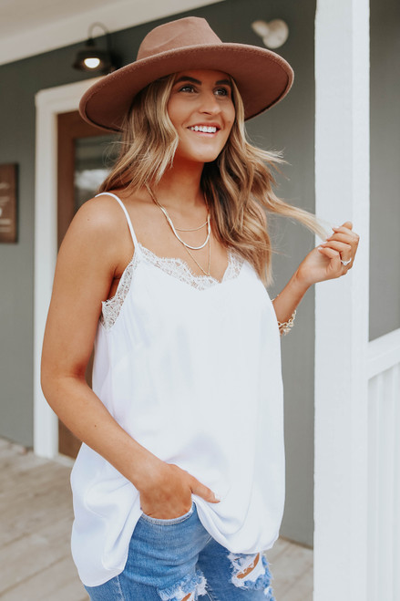 All Yours V-Neck Lace Detail Cami
