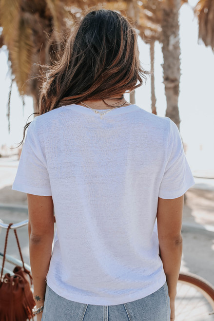 Chaser Stacked Coke White Tee