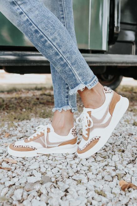 Coconuts by Matisse Skye Leopard Contrast Sneakers