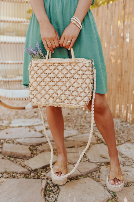 Palm Beach Textured Woven Crossbody