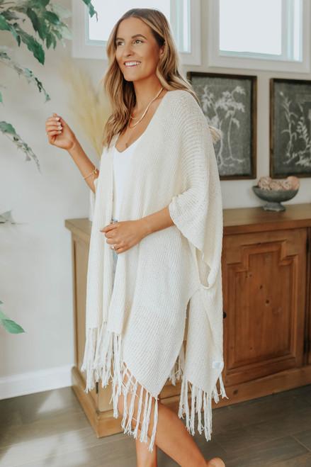 Desert Heat Poncho Fringe Kimono