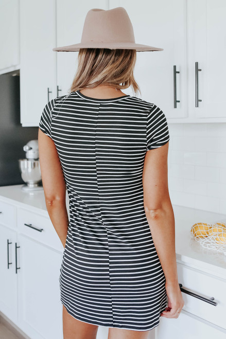 New Adventures Striped T-Shirt Dress