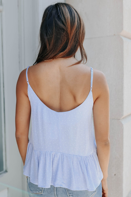 Scoop Neck Periwinkle Dotted Tank
