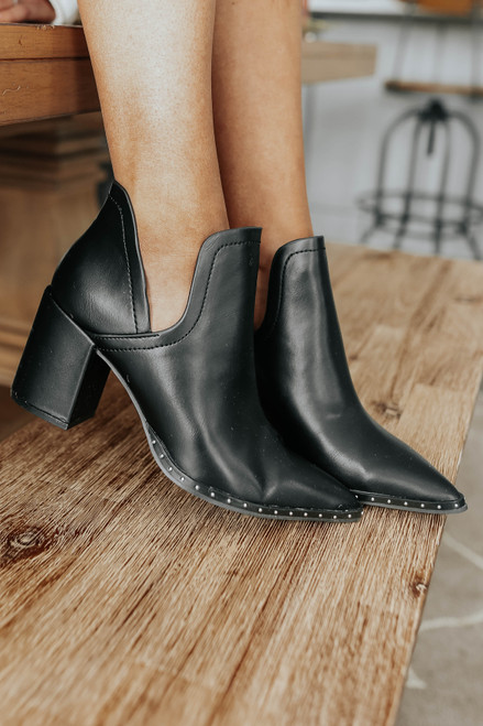 Viola Faux Leather Studded Booties