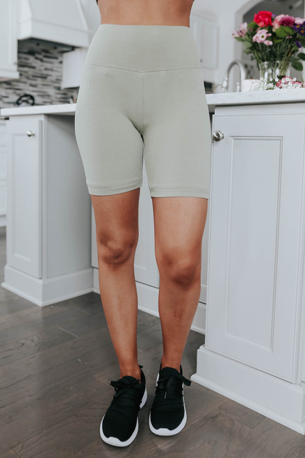 Training Day Ribbed Biker Shorts