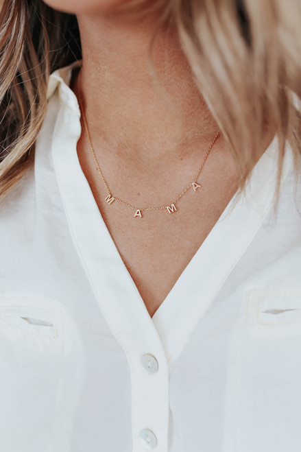 Mama Dainty Gold Dipped Necklace