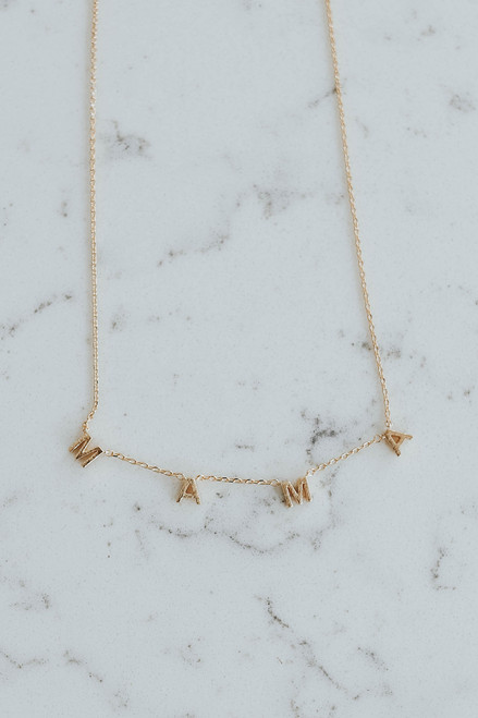 Mama Dainty Gold Dipper Necklace
