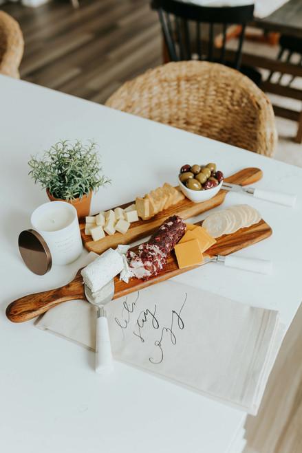 Appetizer Wood Charcuterie Board Set
