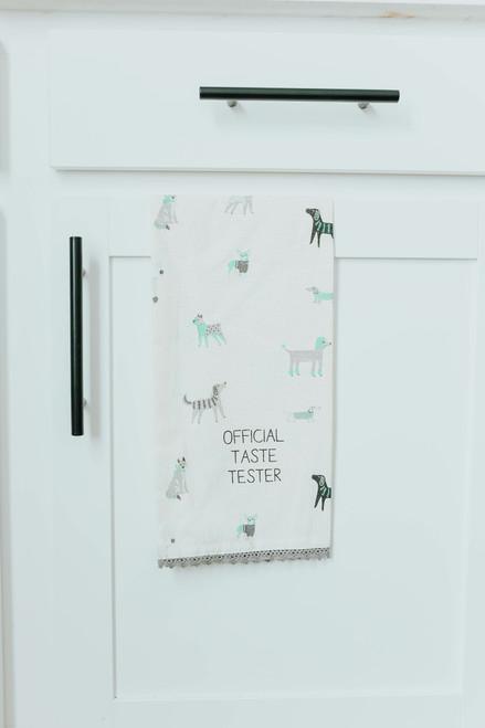 Official Taste Tester Dog Tea Towel