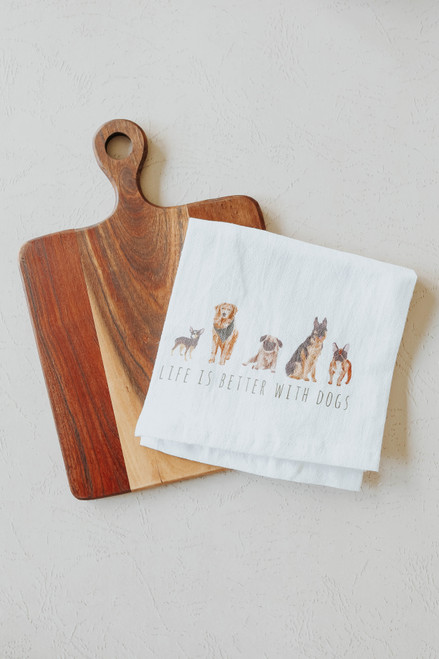 Dog Tea Towel & Cutting Board Set