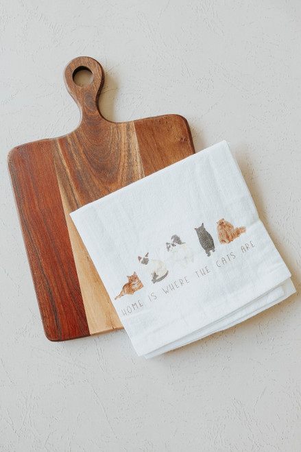 Cat Tea Towel & Cutting Board Set