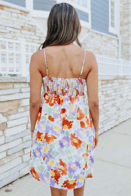 Coastal Garden Watercolor Floral Dress