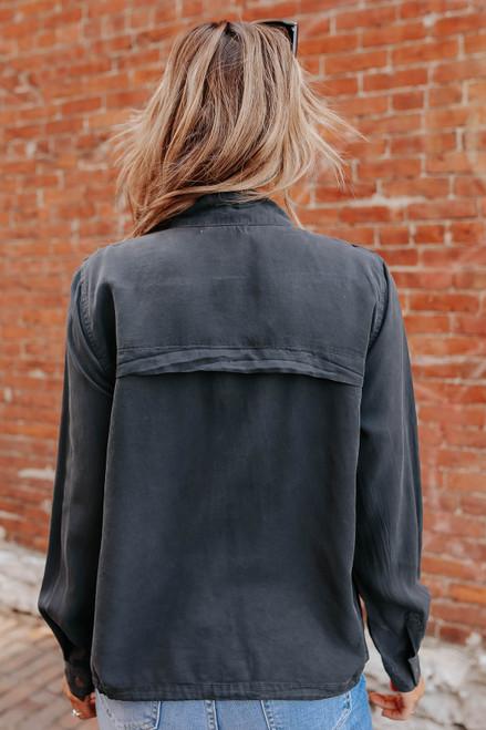 Road Trip Zip Up Dark Charcoal Jacket