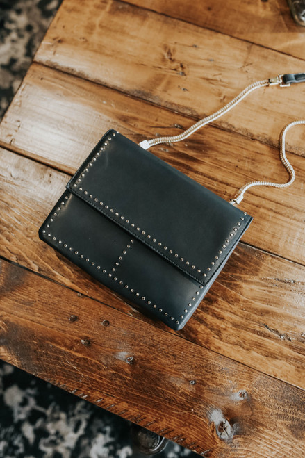 French Connection Studded Black Crossbody