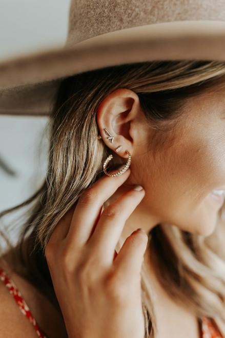 Twisted Gold Plated Hoop Earrings