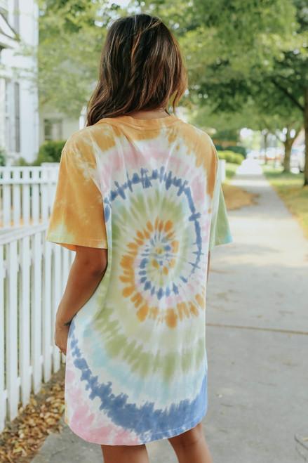 Daydreamer Janis Joplin Tie Dye T-Shirt Dress