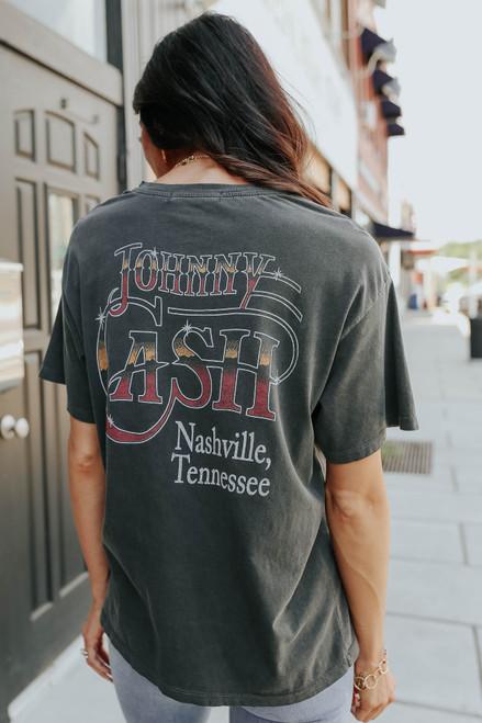 Daydreamer Johnny Cash Boyfriend Tee