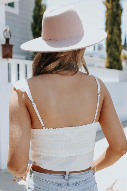 Sweetheart Smocked Off White Bodysuit