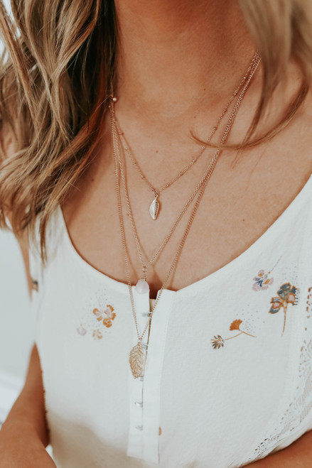 Sumatra Layered Gold Necklace