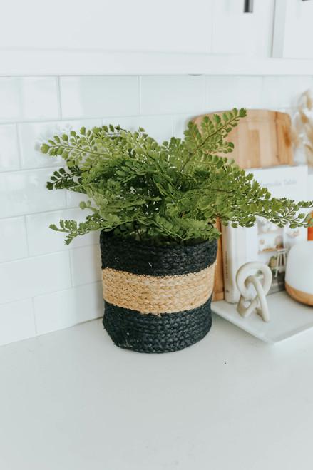 Wide Stripe Jute Planter