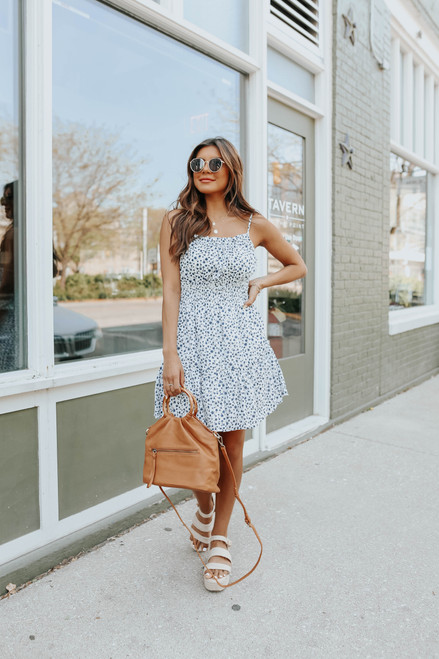 Spring Bouquet Floral Dotted Dress