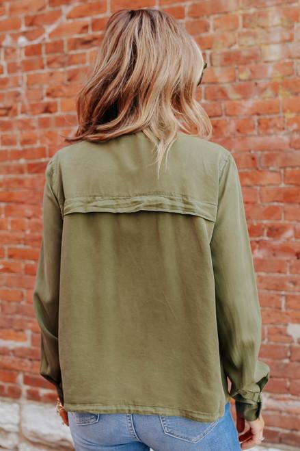 Road Trip Zip Up Olive Jacket