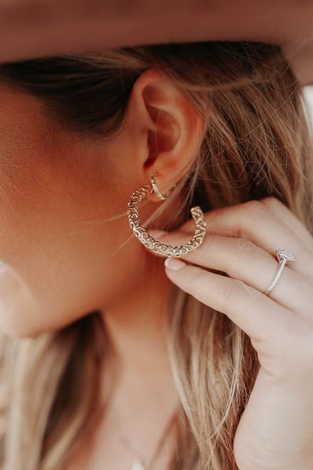 Kendra Scott Maggie Filigree Hoop Earrings