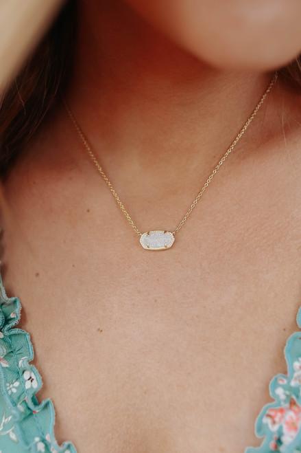 Kendra Scott Elisa Iridescent Abalone Pendant Necklace