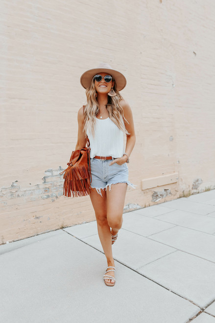 Free People Get to Know You White Cami