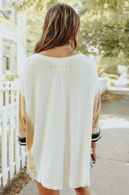 Free People Just Tip It Henley Top