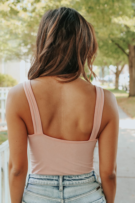Free People Washed Pink Seamless Bodysuit