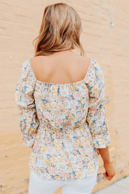 Sweetheart Floral Peplum Blouse