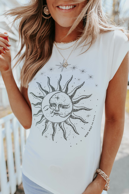 Moon & Stars Ivory Graphic Tee