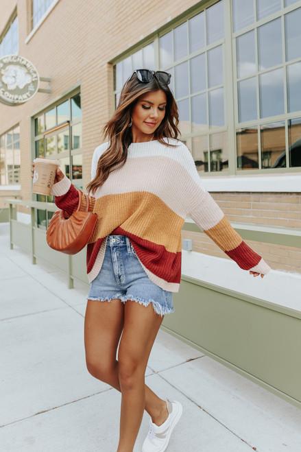 Set The Tone Colorblock Sweater