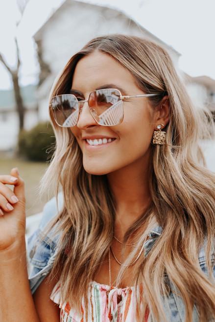 Otra Roadie Gold Square Sunglasses