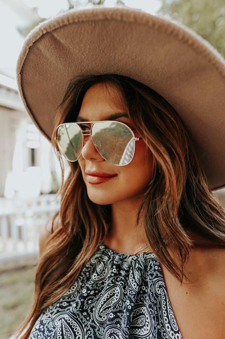 Otra Transit Gold Aviator Sunglasses