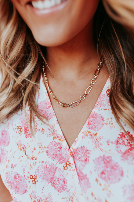 Stand by Me Gold Linked Necklace