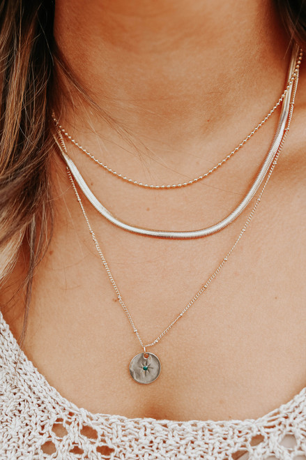 Star Bright Layered Charm Necklace