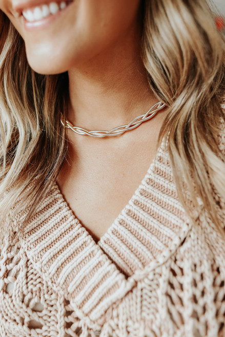 Good Fortune Twisted Choker Necklace