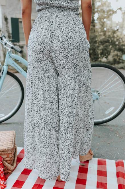Delilah Ditsy Daisy Navy Tiered Pants