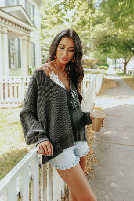 Free People Buttercup Black Thermal