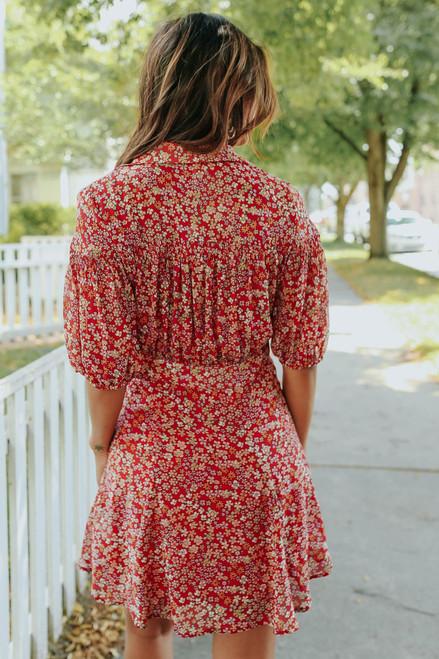 Free People Bonnie Strawberry Floral Mini Dress