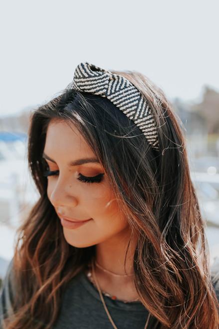 Knotted Stripe Rattan Headband