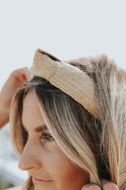 Knotted Natural Rattan Headband