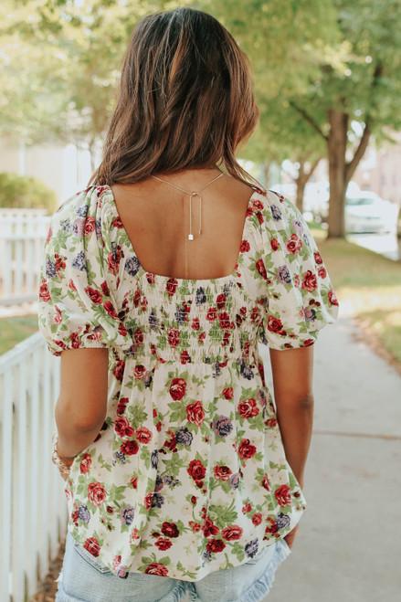 Secret Garden Sweetheart Floral Top