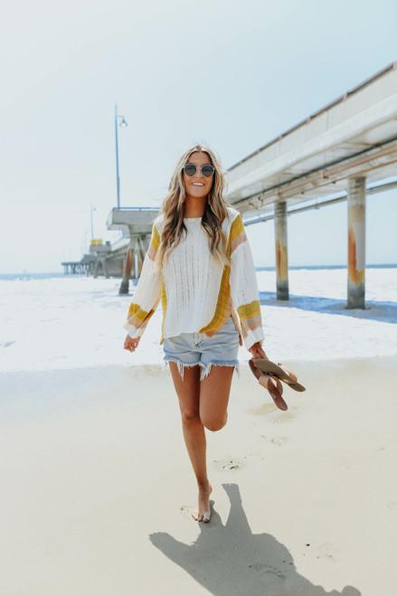 Sunset Canyon Colorblock Beach Sweater