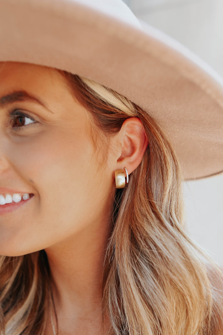 Love Connection Gold Hoop Earrings