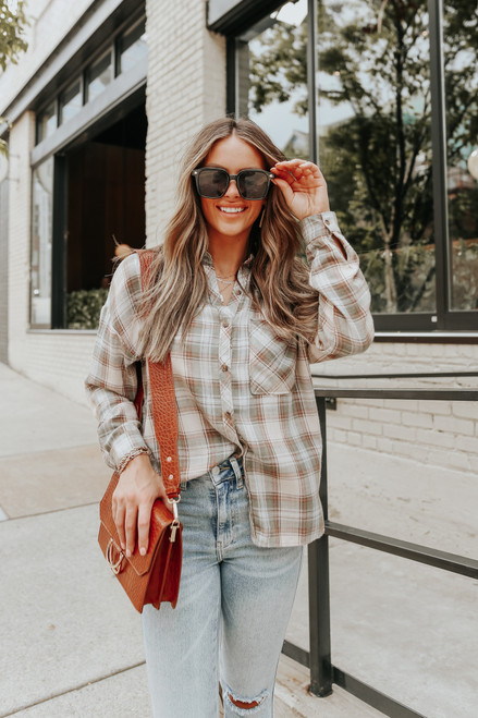 Western Expedition Olive Plaid Shirt
